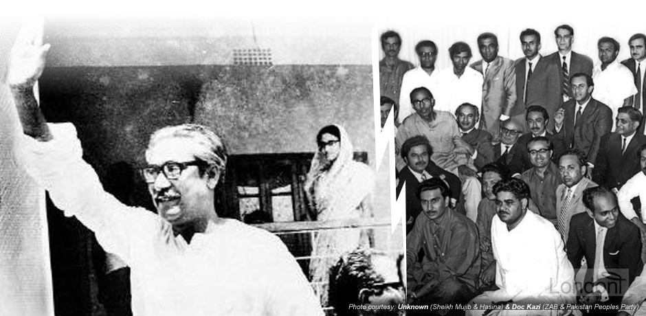 Sheikh Mujibur Rahman and Sheikh Hasina, and Zulfikar Ali Bhutto and Pakistan People's Party