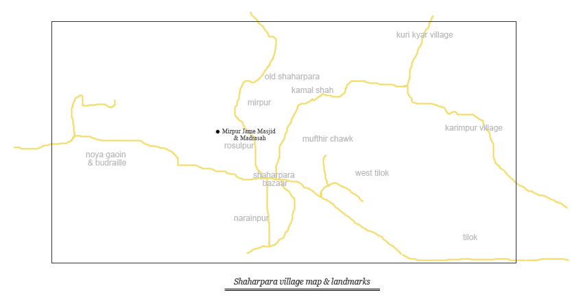 Shaharpara village map & landmarks